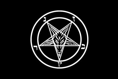 Bandera Pentagráma Satánico