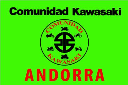 Bandera Comunidad Kawasaki Andorra verde