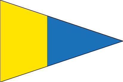 Bandera Náuticas número 5 CIS