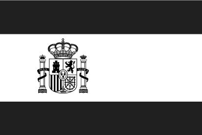 Bandera España blanco y negro