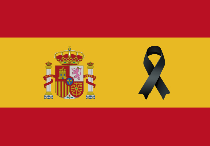 Bandera España Crespón Negro