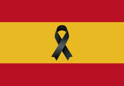 España Crespon Negro sin Escudo personalizada