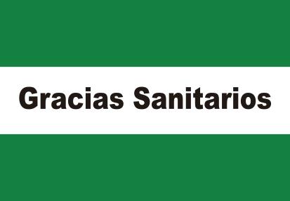 Bandera Andalucía Gracias Sanitarios
