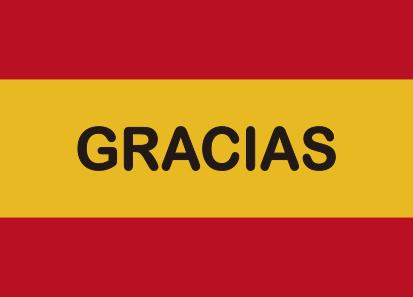 Bandera España Gracias