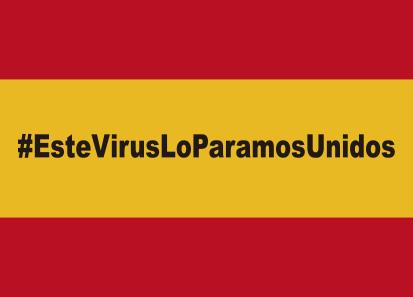 Bandera España Virus
