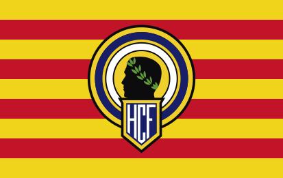 Bandera Cataluña con escudo del hércules de Alicante