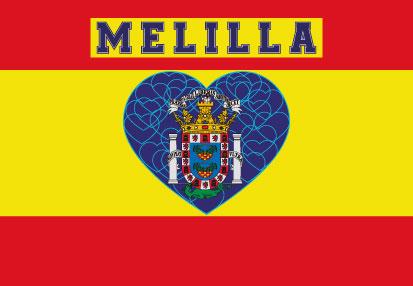 Bandera Melilla Corazón