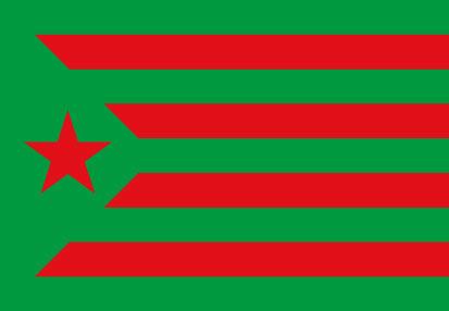 Bandera Estelada Estrella Roja