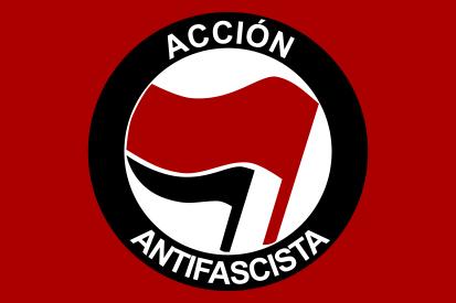 Bandera Acción antifascista España Maxi