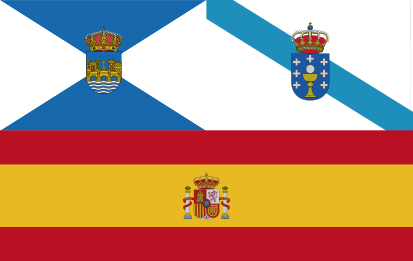 Bandera Galicia Pontevedra España