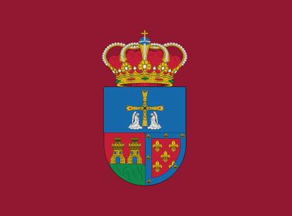 Bandera Proaza burdeos