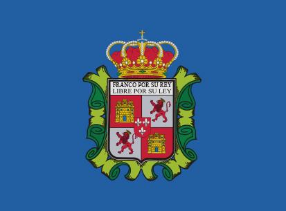 Bandera El franco azul