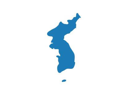 Bandera Corea reunificada