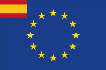 Bandera España con Unión Europea