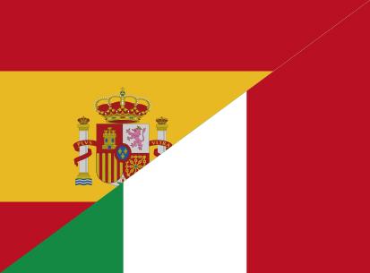 Bandera España C/E Italia