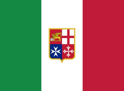 Bandera Marina Mercante Italia