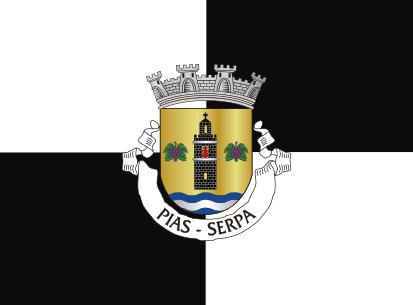 Bandera Pias Serpa negro y blanco
