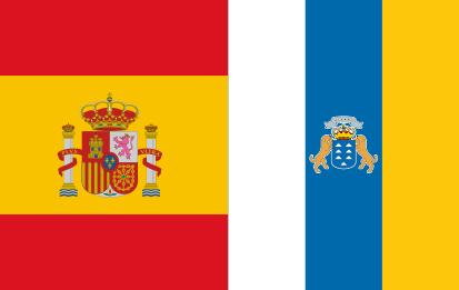 Bandera España C/E y Canarias C/E