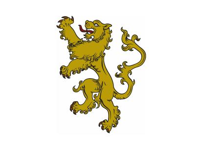 Bandera  León fondo blanco