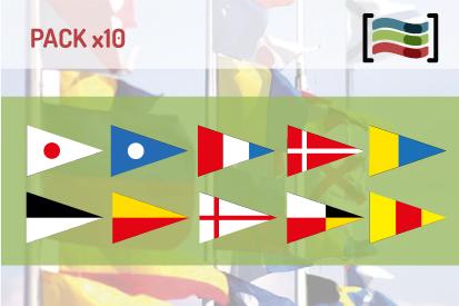 Bandera Pack 10 Banderas Numerales Naúticas