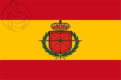Bandera Navarra - Escudo Laureado - España