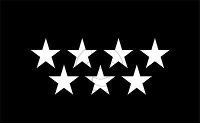 Bandera Comunidad de Madrid (fondo negro)