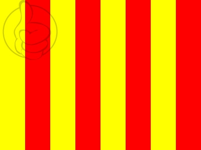 Bandera Flag red and yellow stripes