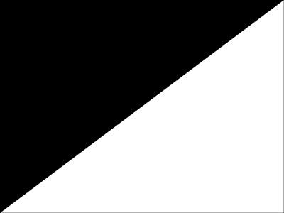 Bandera Bandera negra sobre blanco