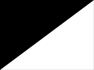 Bandera Black on white flag