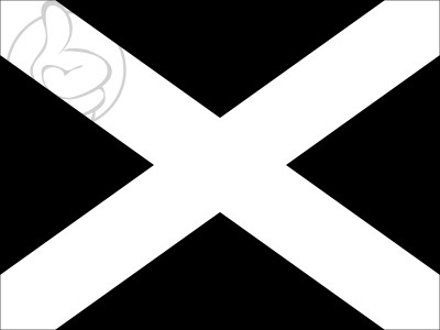 Bandera Black flag with white cross