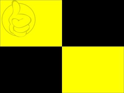 Bandera Bandera negra y amarilla a cuartos