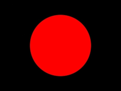 Bandera Black with red circle