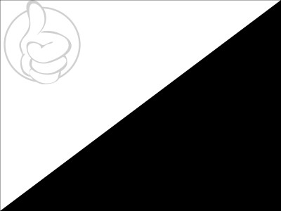 Bandera White on black