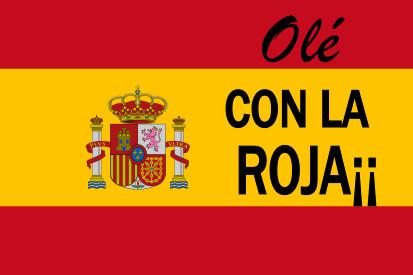 Drapeau Espagne con la roja