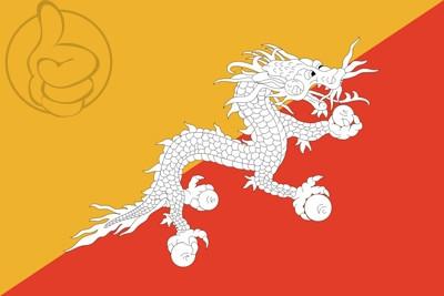 Bandera Bután