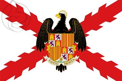 Drapeau Croix de Bourgogne et Rois Catholiques Shield