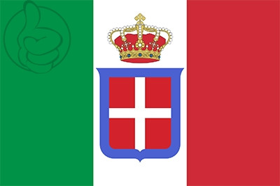 Bandera Kingdom of Italy (1861-1946)