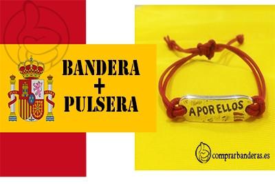 Bandera Bandera España + Pulsera A por ellos