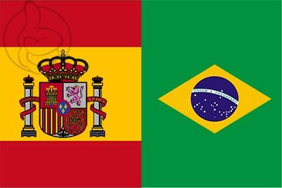 Bandera España y Brasil
