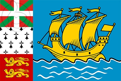 Bandera San Pedro y Miquelón