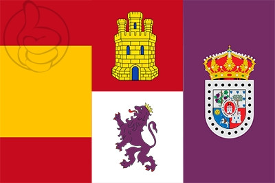 Bandera España, Castilla y León, Soria