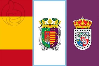 Bandera España, Málaga y Soria