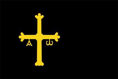 Bandera  Asturias fundo preto