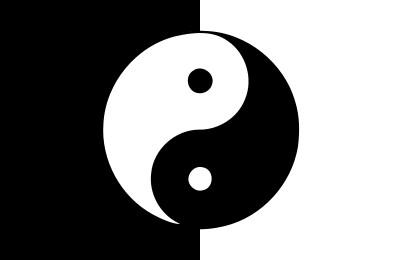 Bandera Yin & yang