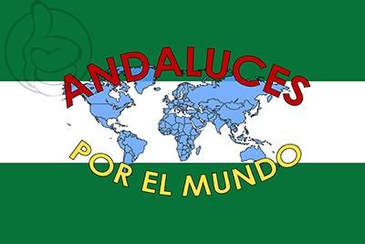 Bandera Andaluces por el mundo