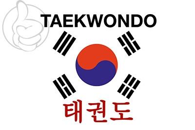 Bandera Taekwondo Corea