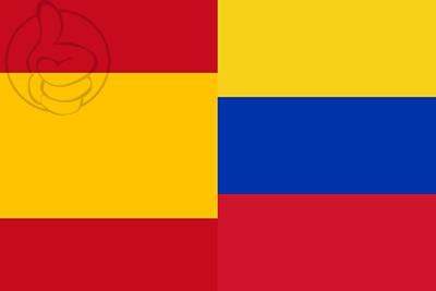 Bandera España y Venezuela