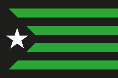 Bandera Estelada Negra y Verde