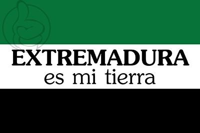 Bandera Extremadura es mi tierra