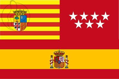 Bandera Aragón Madrid España